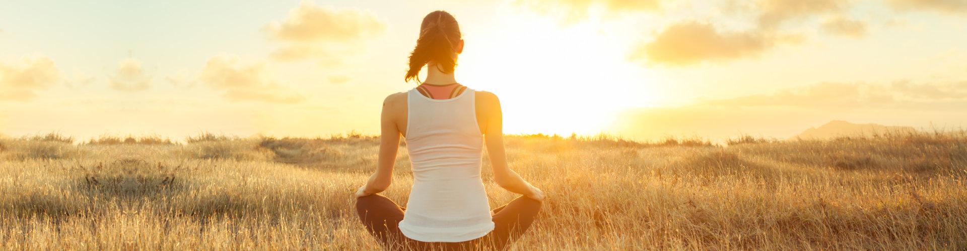 Meditation, yoga, feeling at peace